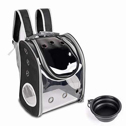 YINGJEE Haustier Rucksäcke mit Mesh für kleine Hunde Hunderucksack Katzenrucksack mit klappbarer...