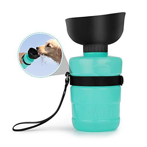 AVNICUD Hundetrinkflasche für unterwegs, 520ml Hunde Wasserflasche, BPA-frei, Tragbare Haustier...