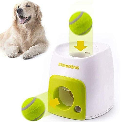 NAINAIWANG Ballwurfmaschine Hunde Automatischer Ballwerfer Wirft Tennisbälle Hundeautomatische Ballwurf...