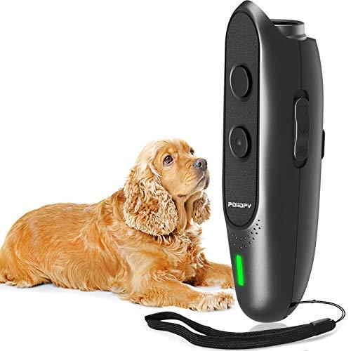 POIIOPY Anti Bell Gerät für Hunde mit Variabler Frequenz, Ultraschall Hunde Bell Abschreckung,...