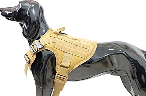 Llorjym K9 Molle Hundegeschirr, Militärqualität, taktisches Hundegeschirr für mittelgroße und große...