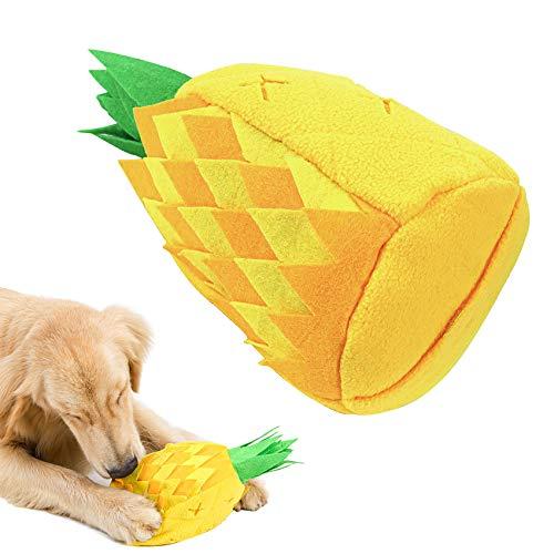 HORYDIA Schnüffelteppich Hunde Ananas Form Slow Feeding Training Hundespielzeug Quietschend Eine...