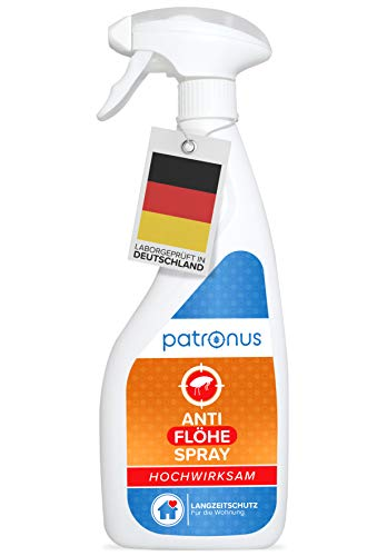 Patronus Anti Floh-Spray für die Wohnung 500ml - biologisch abbaubares Mittel gegen Flöhe mit...