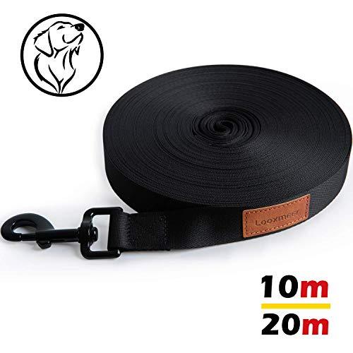 Looxmeer Schleppleine für Hunde, 10m Robuste Hundeleine Trainingsleine mit Aufbewahrungsbeutel,...