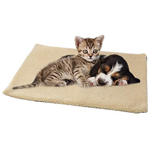 Wärmematte Selbstheizende Decke für Katzen Hunde 60x45cm Katzendecke Hundedecke Selbstwärmende Thermal...