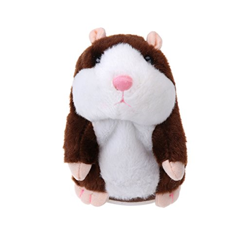 TOYMYTOY Sprechender Hamster Plüsch-Spielzeug wiederholt was Sie sagen, Mimikry Haustier-Spielzeug...