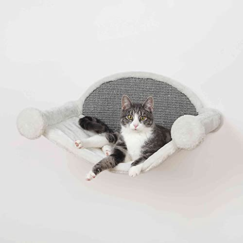 Trixie 49920 Hängematte zur Wandmontage, 54 × 28 × 33 cm, weiß/grau