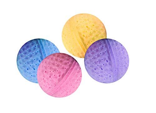 Karlie Moosgummibälle ø: 4 cm farblich sortiert 4 Golfbälle