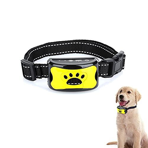 Bikirin Verbessertes Antibell Halsband, (USB Wiederaufladbares) No Harm Anti-Barking Erziehungshalsband...