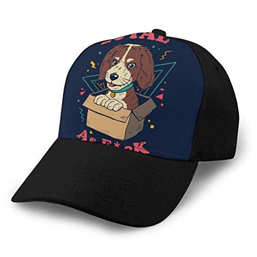 Hongyan Baseballkappe Hund in einer Box, Loyal as FCK Dad, verstellbar, atmungsaktiv, für Herren und...
