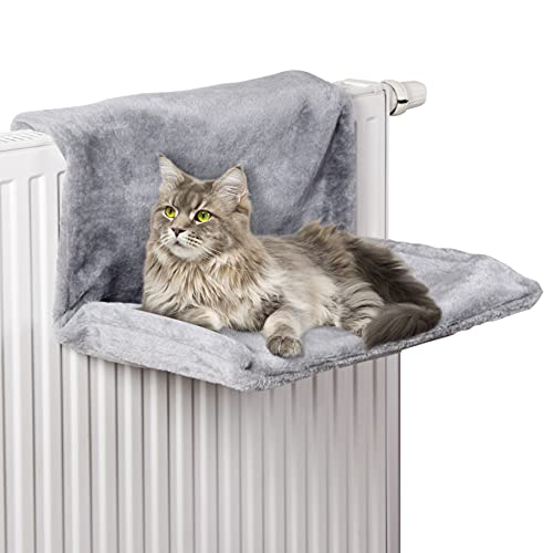 HEIZKÖRPERLIEGE FÜR Katzen | HEIZUNGSBETT FÜR Katzen (Dunkel-Grau)