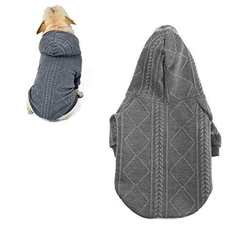 meioro Sweater für Hunde Kapuzenpullis für Haustier Warme Hundebekleidung Puppy Einfarbiger...