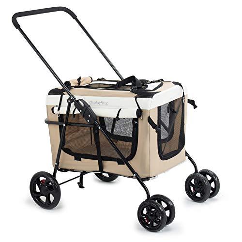 Display4top Haustier Reisen Kinderwagen Hund Katze Kinderwagen Kinderwagen Jogger Buggy mit Sperren...