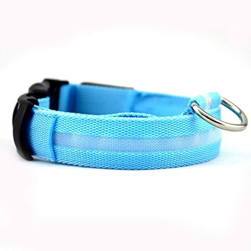 liming Nylon Haustier Hundehalsband LED Leuchthalsband Perro Luz Haustier LED Halsband Katze Glühendes...