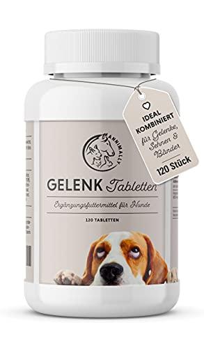 Annimally Gelenktabletten für Hunde mit Grünlippmuschel, MSM, Teufelskralle, Glucosamin & Hyaluron -...