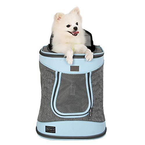 Petsfit Haustier Rucksäcke für Hunde und Katzen Faltbarer Hunderucksack Katzenrucksack mit internem...