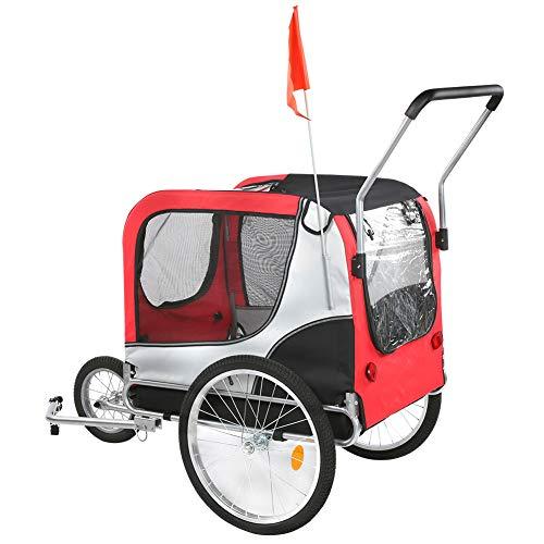 Ausla Hundeanhänger, Fahrrad-Hundeanhänger, 2 in 1 Kinderanhänger, Jogger Fahrradanhänger, mit 3 Rad,...