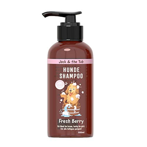 Fresh Berry Hundeshampoo gegen Geruch, 500ml I vegane Fellpflege für Hunde I wohltuendes Shampoo mit...
