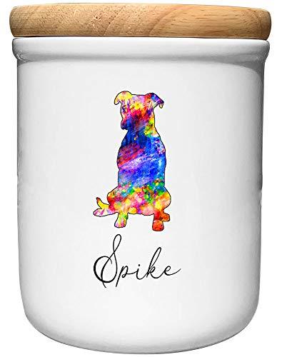 Cadouri Keramik Leckerli-Dose Pitbull » personalisiert mit Name deines Hundes «┊Snackdose Keksdose...