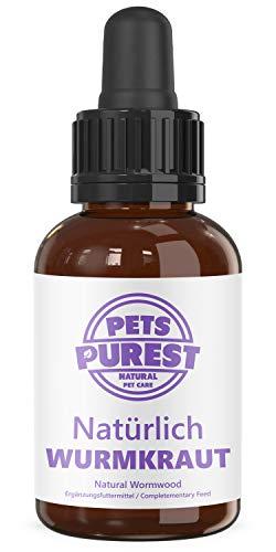 Pets Purest 100% Natürliches Wurm Pet-Liquid Tropfen. Vor und bei Wurmbefall. Hunde, Katzen, Geflügel,...