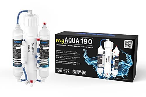 ARKA Aquatics myAqua190 - Umkehrosmoseanlage für bis zu 190 L/Tag, filtert bis zu 99% der Schadstoffe,...