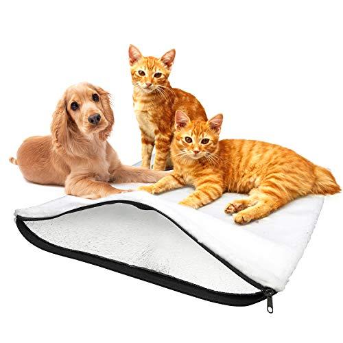 BellMietz® selbstwärmende Katzendecke [Handmade in Europa] - 45x60cm große selbstheizende Decke Katze...