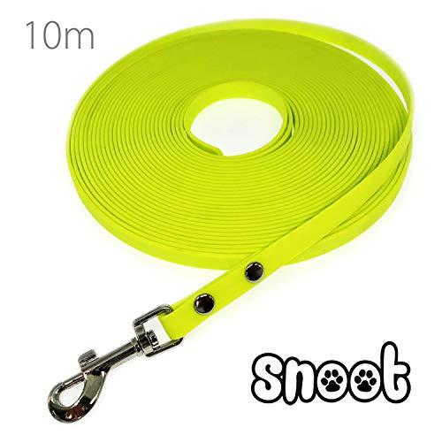 SNOOT Schmale Schleppleine 10m / 10mm - zugfeste, schmutz- und Wasserabweisende Hundeleine mit einem...