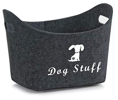 Filz Pet Toy Box & Dog Toy Box Aufbewahrung mit Griffen Pet Toy Korb - Perfekt für die Organisation von...