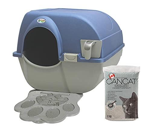 Omega Paw Roll 'n Clean Katzentoilette Katzenklo selbstreinigend Large + Katzenmatte + 8kg Streu,...
