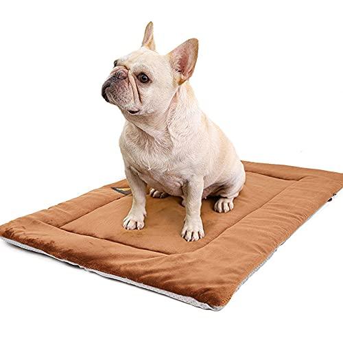 Jiaren® Haustierkissen, Plüsch-Schlafmatte für Hunde, Wärmedämmung für Hunde, Baumwolle, Braun,...