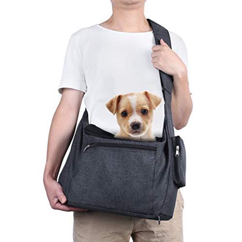 Petacc Hunde tragetuch Hund Tragetaschen Katzen Outdoor-Reisetasche mit verstellbarem Schultergurt,...