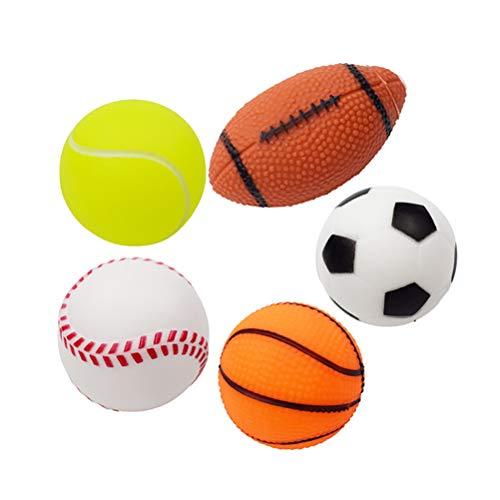 Quietschender Hundespielzeugball, interaktive Puzzlebälle Quietschball Tennisball Fußball Kaubälle...