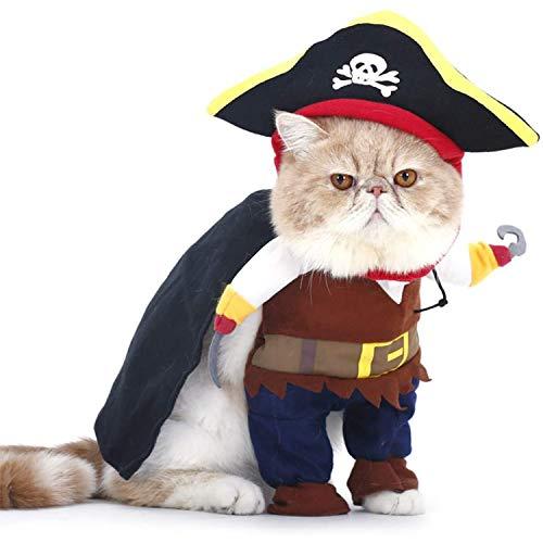 PTN Haustierkostüm für Hunde und Katzen, Aihua eu Katzen Piraten Kostüm mit Hut, Party Verkleiden,...