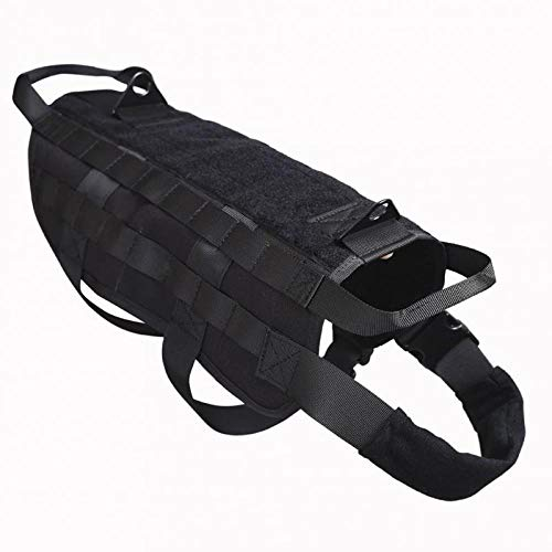 Hundegeschirr Polizei K9 Tactical Training Hundegeschirr Molle Weste Packs Mantel 4 Farbe S-XL Outdoor...