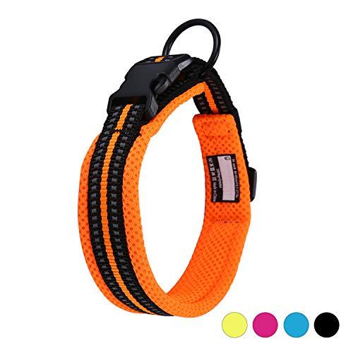 Kaka mall Hundehalsband Verstellbare Nylon Hunde Halsband Atmungsaktives Reflektierend Halsband...