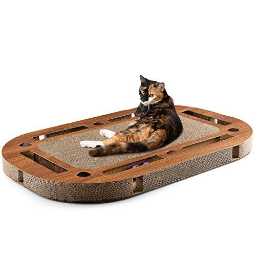 CanadianCat Company ®   Katzenspielplatz XXL 85 x 54 x 5,8 cm mit integrierter Kratzpappe, interaktives...