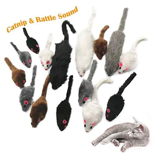 15 Stück Maus Katzenminze, Spielzeug Mouse Katze,Katzenspielzeug Maus,Katze Haustier Maus Spielzeug für...