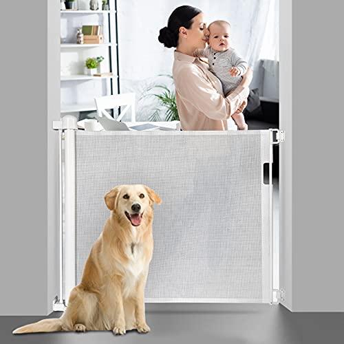 Absperrgitter Hund Türgitter Baby Treppenschutzgitter 0-150cm Türschutzgitter Ausziehbare...