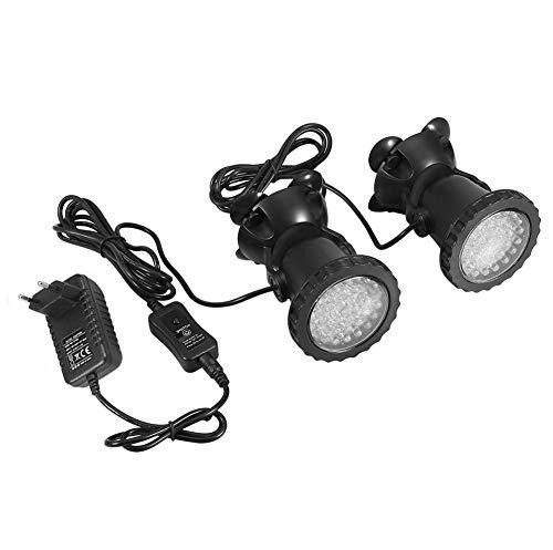 Unterwasserbeleuchtung Unterwasserleuchte Strahler Aquarium Licht Wasserdichtes IP 68 LED Unterwasser...