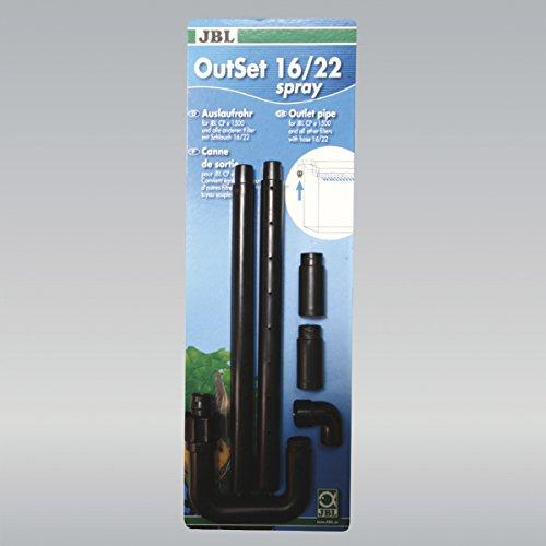 JBL OutSet Spray 60158 Wasserrücklauf-Set mit 2-teiligem Düsenstrahlrohr für Aquarien