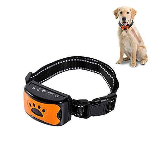 Verbessertes Antibell Halsband, (USB Wiederaufladbares) No Harm Anti-Barking Erziehungshalsband Hund mit...