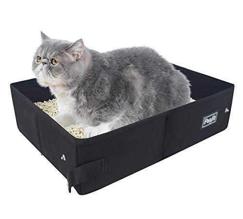 Petsfit Portable Katzenklo Katzentoilette Reise für Katze Faltbare, leichte und einfache Reinigung, 40cm...