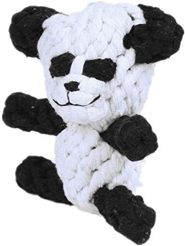XINRUIBO 12cm Nette Panda Form Knot Hundespielzeug, Hund Molar Spielzeug, komisch Mitnehmerzahn...