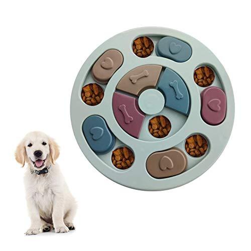 Elezenioc Hunde-Puzzle-Spielzeug für langsames Fressen, für Welpen, Leckerli-Spender, langsamer...
