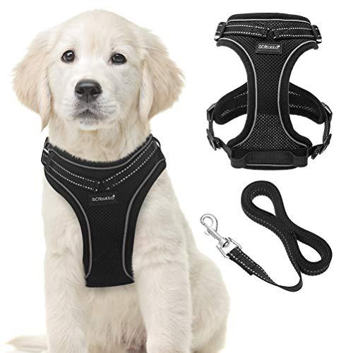 SCIROKKO Reflektierendes Hundegeschirr und Leine Set für Welpen und Kätzchen, weiches...