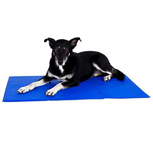 lionto by dibea Kühlmatte für Haustiere Hundekühlmatte kühlende Haustiermatte (L) 100 x 60 cm
