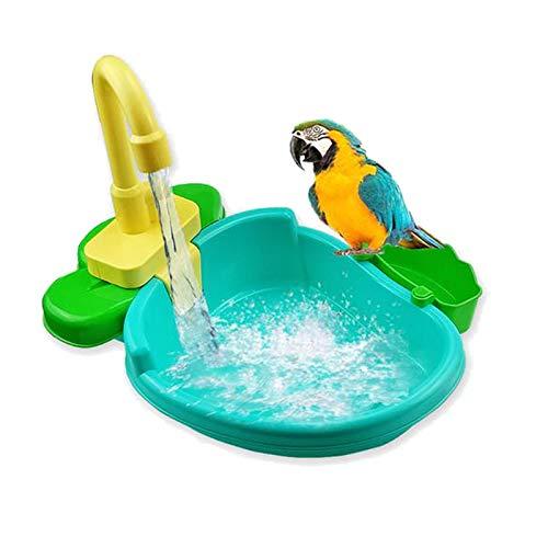 15pcs Vogel Automatische Badewanne Schwimmbad Spielzeug Bad Dusche Wasserspender für Papagei...