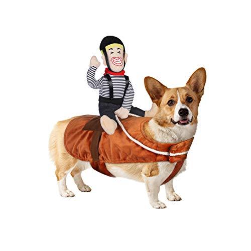 POPETPOP Hund Kostüm lustige Cowboy Reiter Kleidung Hunde Outfit Ritter Stil Kleidung für Haustier...