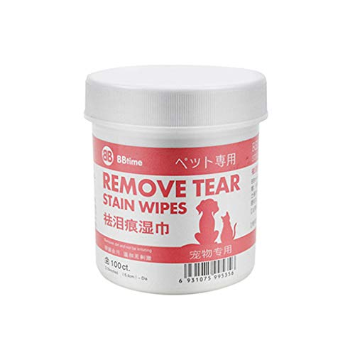 YUWEX 100 Stück Augen-Reinigungspads für Hunde und Katzen Tränenstein und Speichel entfernen