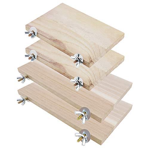 YINETTECH Plattform für Haustiere, Hamster, Chinchilla, Holz, rechteckig, mit Schraube, Mutter,...